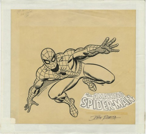 The Amazing Spider-Man Book and Record Set album cover by John Romita.  Source.
