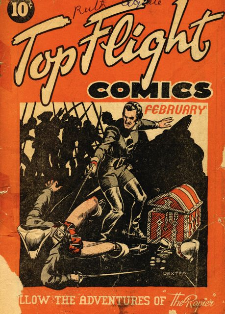 Hillborough Studios single issue of Top Flight Comics from Feb. 1942