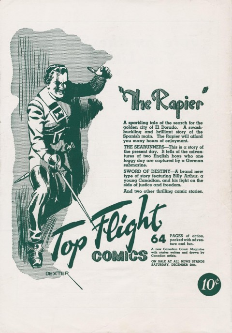 The back cover from Triumph-Adventure Comics No. 5