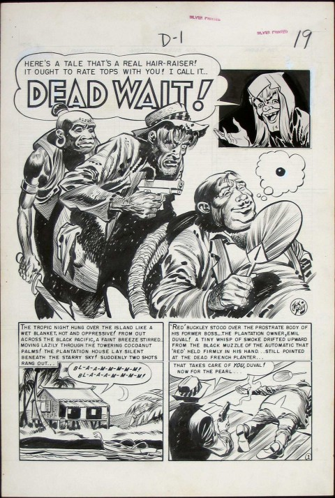 Vault of Horror issue 23 splash by Jack Davis.  Source.