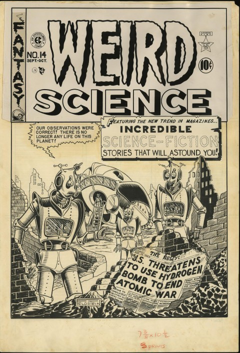 Weird Science issue 14 cover by Al Feldstein.  Source.