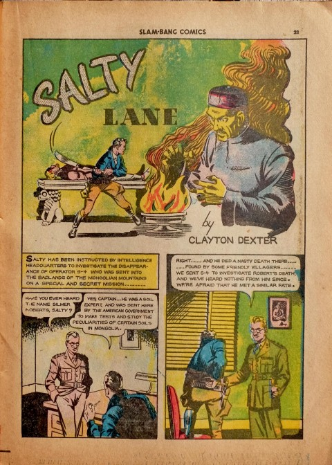 The Salty Lane splash from Slam-Bang Comics No. 7