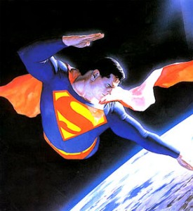 superman over earth