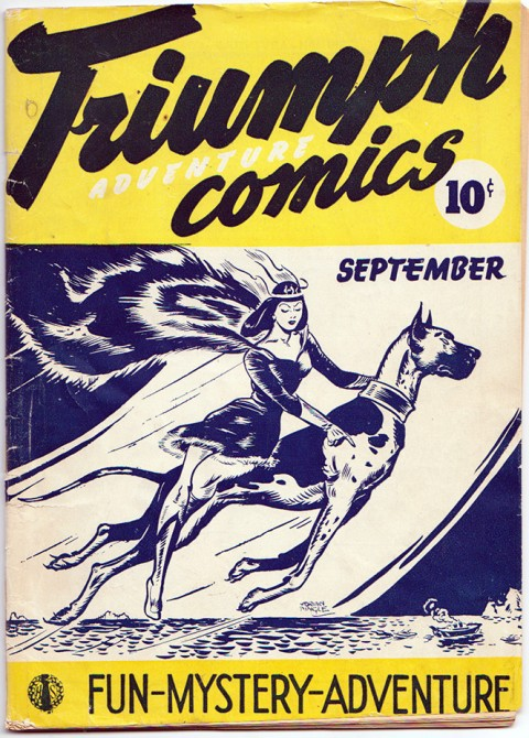 Nelvana and her brother from the cover of Triumph-Adventure Comics No. 2