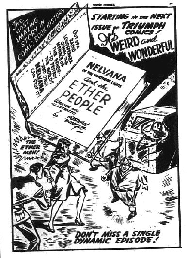 The ad for the start of the Ether People arc from Wow Comics 24