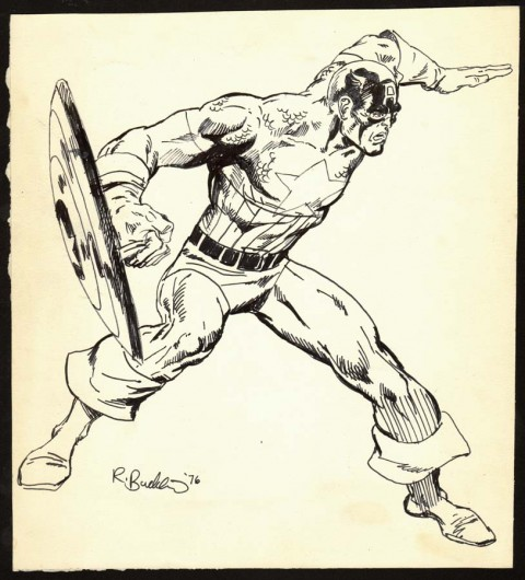 Captain America by Rick Buckler.  Source.