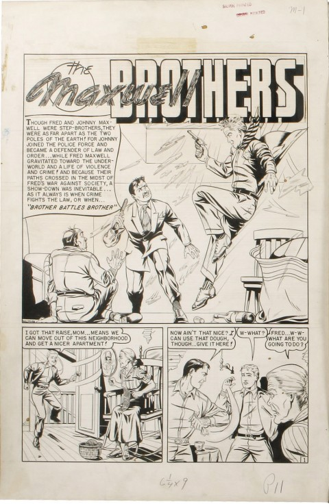 Crime Patrol issue 14 splash by Ed Waldman.  Source.