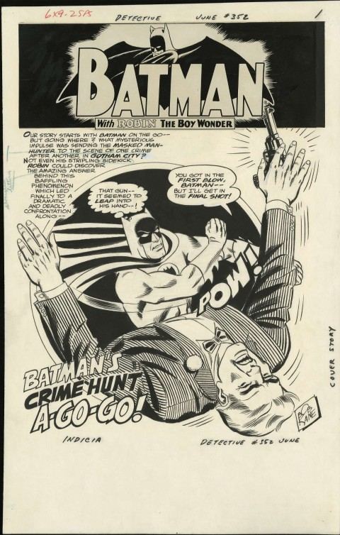 Detective Comics issue 352 splash by Sheldon Moldoff.  Source.