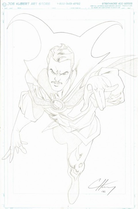 Doctor Strange by Clayton Henry.  Source.
