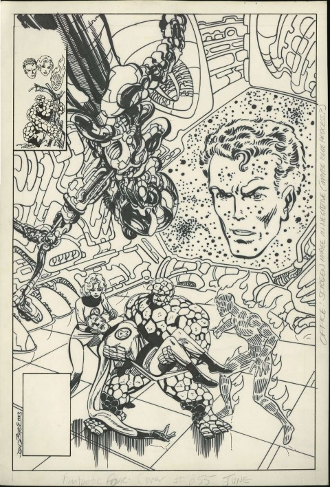 Fantastic Four issue 255 cover by John Byrne.  Source.