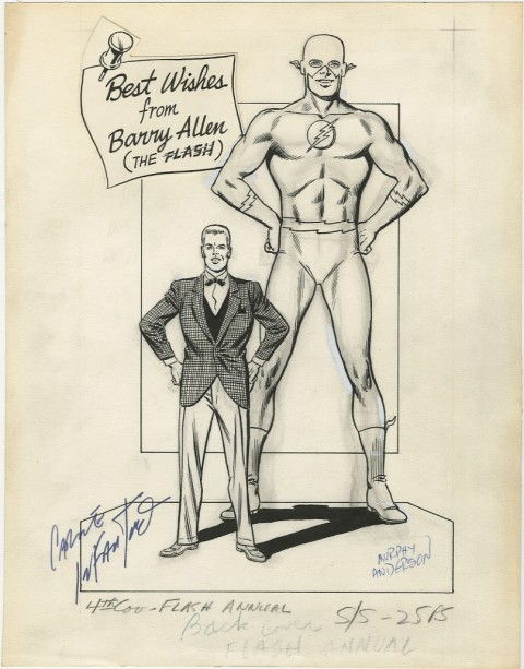 Flash Annual issue 1 back cover by Carmine Infantino and Murphy Anderson.  Source.