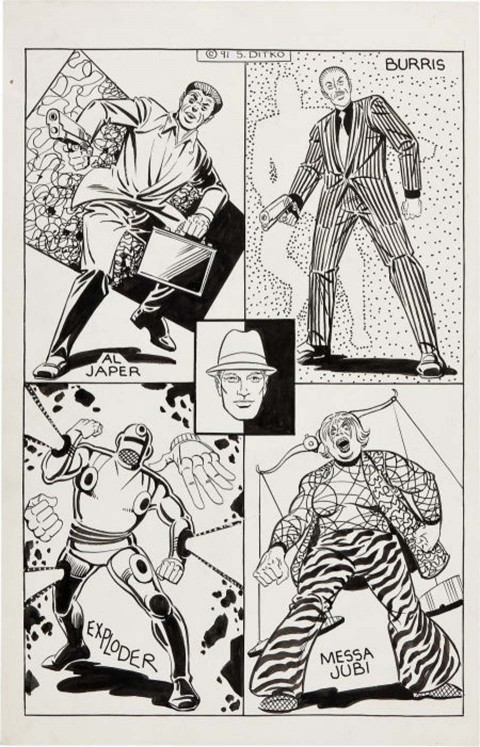 Mr. A page by Steve Ditko.  Source.