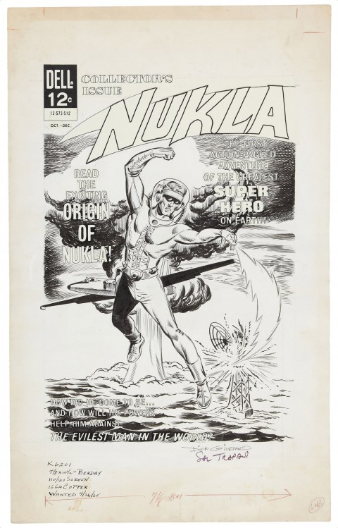 Nukla issue 1 cover by Dick Giordano and Sal Trapani.  Source.