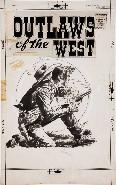 Outlaws Of The Old West issue 3 cover by Rocco Mastroserio.  Source.