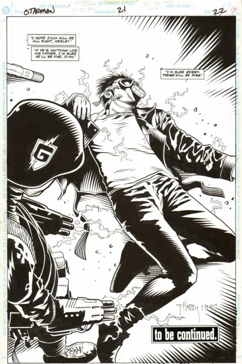 Starman issue 21 by Tony Harris and Wade Von Grawbadger.  Source.