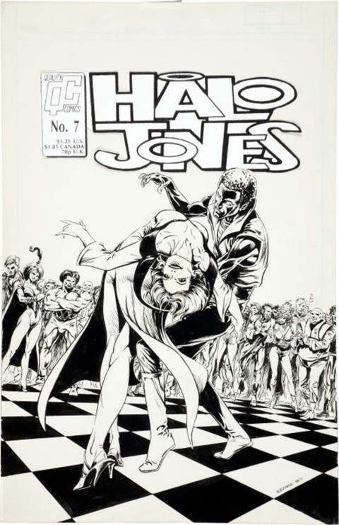 The Ballad Of Halo Jones issue 7 cover by Bart Sears.  Source.