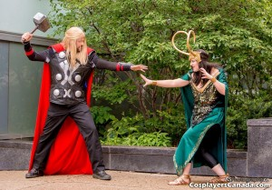Thor and Lady Loki - Cosplayers Canada