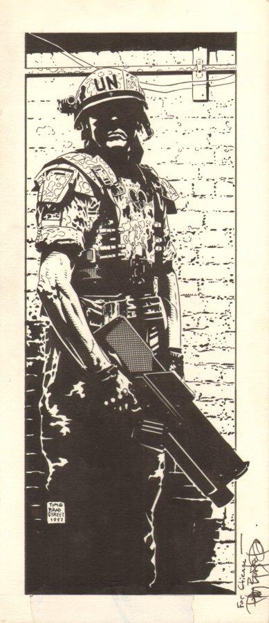 U.N. Soldier by Tim Bradstreet.  Source.