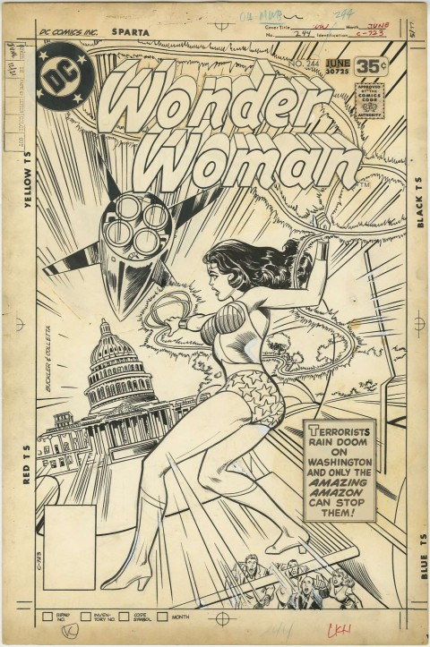 Wonder Woman issue 244 cover by Rich Buckler and Vince Colletta.  Source.