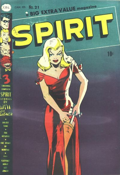 Canadian Spirit Comics No. 21 which uses the famous cover from the  American No. 22