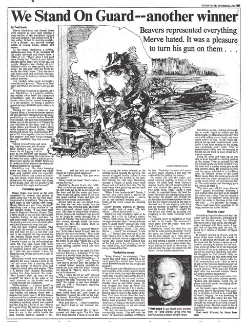 Sunday Star Oct. 23, 1983 (illustrations not by Tedd Steele)