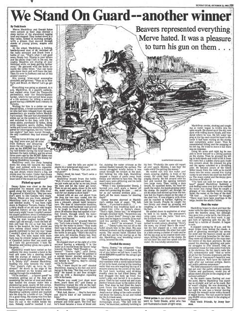Sunday Star Oct. 23, 1983 (illustrations not by Tedd Steele)