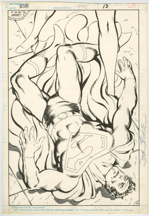 Action Comics issue 595 splash by John Byrne and Keith Williams.  Source.