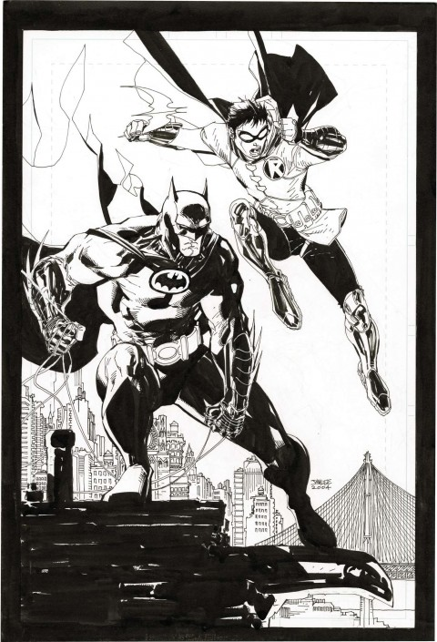 All-Star Batman & Robin promo by Jim Lee.  Source.