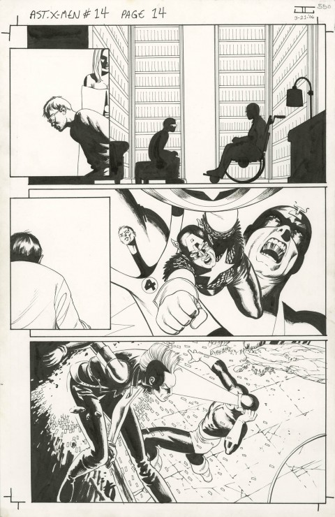 Astonishing X-Men issue 14 page 14 by John Cassaday.  Source.