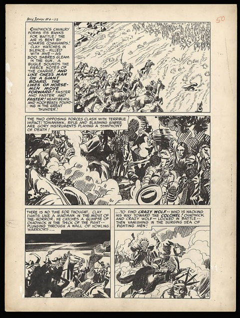 Boy's Ranch issue 4 page 5 by Jack Kirby and Joe Simon.  Source.