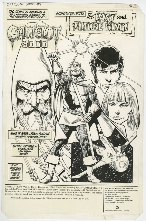 Camelot 3000 issue 1 splash by Brian Bolland and Bruce Patterson.  Source.