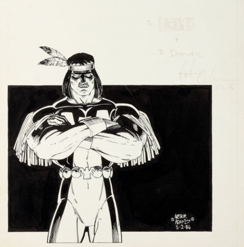 Classic X-Men issue 3 Inside Front Cover Illustration by Arthur Adams.  Source.