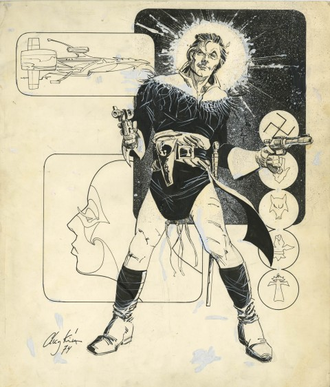 Cody Starbuck by Howard Chaykin.  Source.