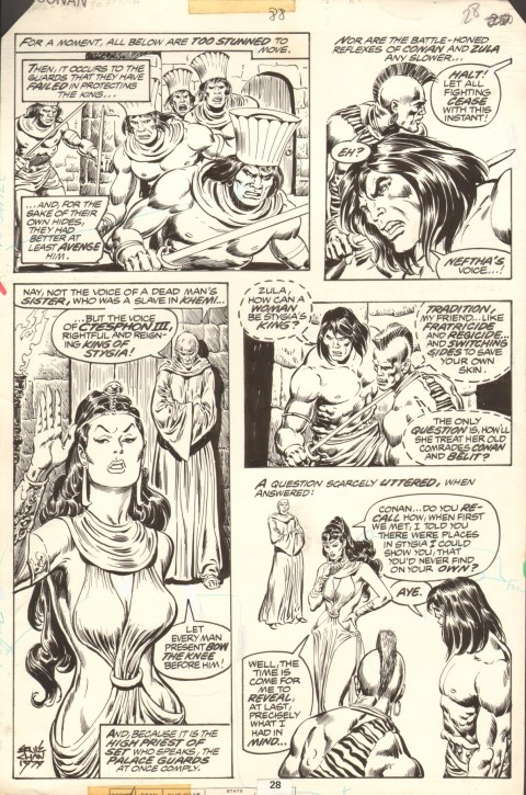 Conan The Barbarian issue 88 page 28 by John Buscema and Ernie Chan.  Source.