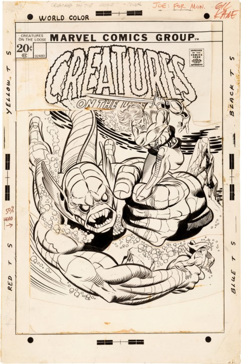 Creatures On The Loose issue 18 cover by Gil Kane and Joe Sinnott.  Source.