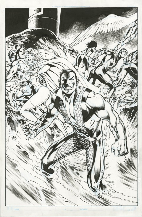 Dark Reign The List X-Men issue 1 cover by Alan Davis and Mark Farmer.  Source.