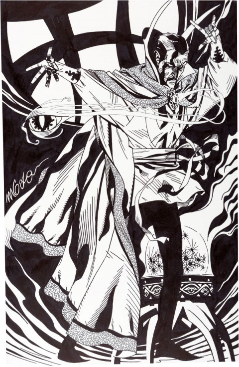 Doctor Strange by Michael Golden.  Source.