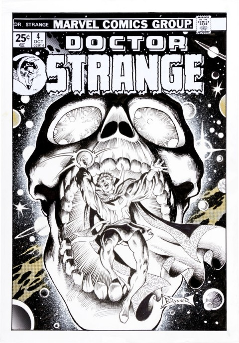 Doctor Strange issue 4 Cover Recreation by Frank Brunner.  Source.