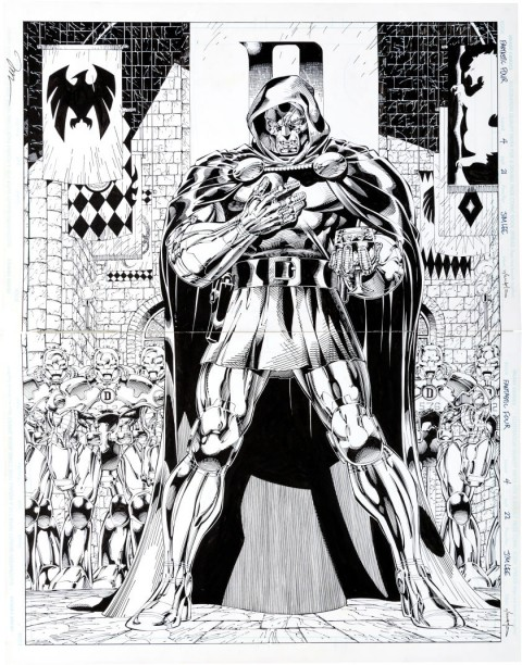 Fantastic Four issue 4 pages 21 and 22 by Jim Lee and Scott Williams.  Source.