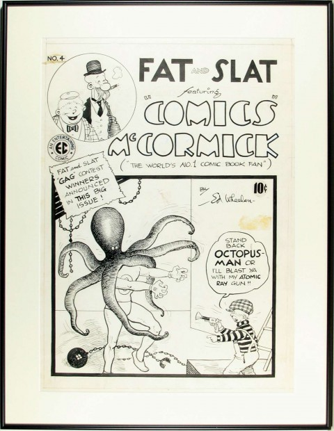 Fat And Slat issue 4 cover by Ed Wheelan.  Source.