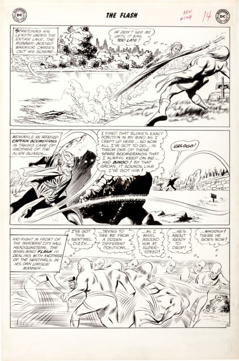 Flash issue 124 page 12 by Carmine Infantino and Joe Giella.  Source.