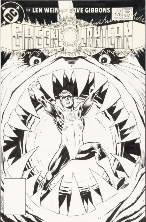 Green Lantern issue 176 Cover by Dave Gibbons.  Source.
