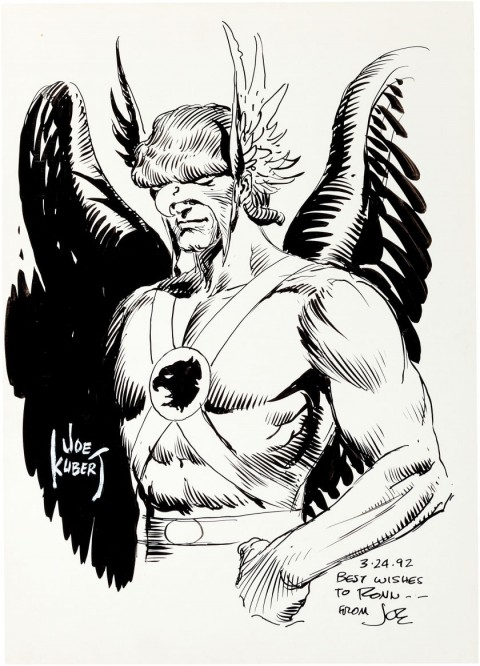 Hawkman by Joe Kubert.  Source.