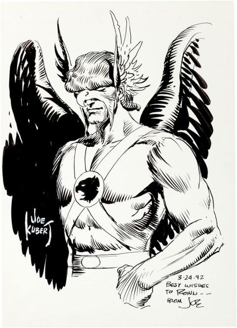 Hawkman by Joe Kubert.  Source.