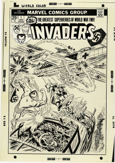 Invaders issue 1 cover by John Romita.  Source.