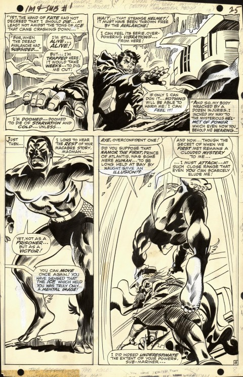 Iron Man and Sub-Mariner issue 1 page 8 by Gene Colan and Frank Giacoia.  Source.