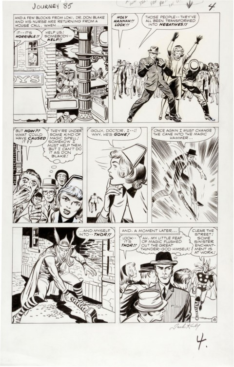 Journey Into Mystery issue 85 page 4 by Jack Kirby and Dick Ayers. Source.