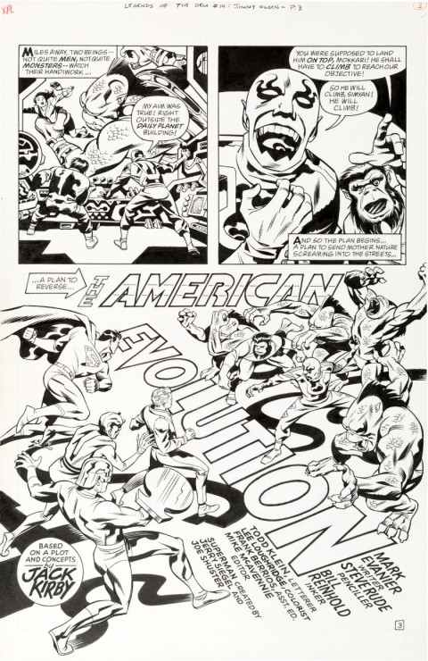 Legends Of The DC Universe issue 14 page 3 by Steve Rude and Bill Reinhold.  Source.