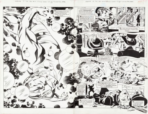 Legends Of The DC Universe issue 14 pages 26-27 by Steve Rude and Bill Reinhold.  Source.