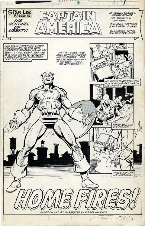 Marvel Fanfare issue 18 splash by Frank Miller and Joe Rubinstein.  Source.